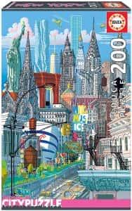 Puzzle de Nueva York de 200 piezas de Educa - Los mejores puzzles de ciudades de EEUU - Puzzle de New York