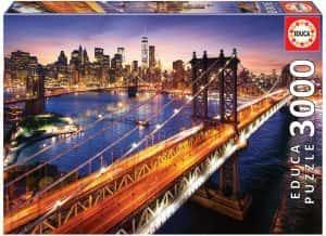 Puzzle de Nueva York de 3000 piezas de Educa - Los mejores puzzles de ciudades de EEUU - Puzzle de New York