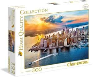 Puzzle de Nueva York de 500 piezas de Clementoni - Los mejores puzzles de ciudades de EEUU - Puzzle de New York
