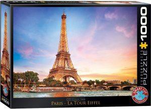 Puzzle de París de Francia de 1000 piezas de Eurographics - Los mejores puzzles de París de Francia - Puzzles de ciudades del mundo