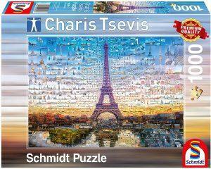 Puzzle de París de Francia de 1000 piezas de Schmidt de Charis Tsevis - Los mejores puzzles de París de Francia - Puzzles de ciudades del mundo