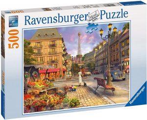 Puzzle de París de Francia de 500 piezas de Ravensburger - Los mejores puzzles de París de Francia - Puzzles de ciudades del mundo