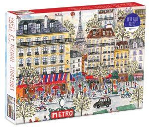 Puzzle de dibujo de París de Francia de 1000 piezas - Los mejores puzzles de París de Francia - Puzzles de ciudades del mundo