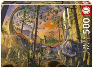 Puzzle de dinosaurios de cuello largo de 500 piezas de Educa - Los mejores puzzles de dinosaurios