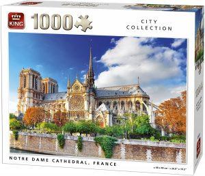 Puzzle de la Catedral de Notre Dame de París de Francia de 1000 piezas de King- Los mejores puzzles de París de Francia - Puzzles de ciudades del mundo
