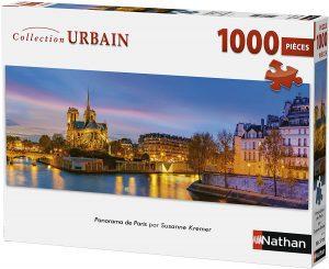 Puzzle de panorama de París de Francia de 1000 piezas de Nathan - Los mejores puzzles de París de Francia - Puzzles de ciudades del mundo