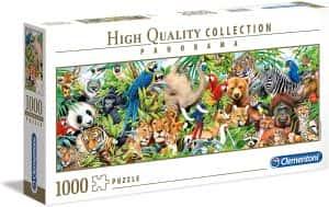 Puzzle de panorama de animales de 1000 piezas de Clementoni- Los mejores puzzles de animales salvajes - Puzzle de animales