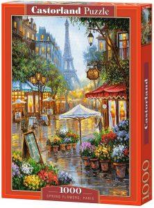 Puzzle de primavera de París de Francia de 1000 piezas de Castorland - Los mejores puzzles de París de Francia - Puzzles de ciudades del mundo