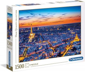 Puzzle de vistas de noche de París de Francia de 1500 piezas de Clementoni - Los mejores puzzles de París de Francia - Puzzles de ciudades del mundo