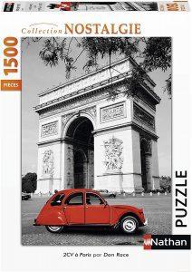 Puzzle del Arco del Triunfo de París de Francia de 1500 piezas de Nathan - Los mejores puzzles de París de Francia - Puzzles de ciudades del mundo