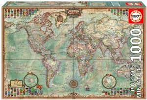 Puzzles de mapamundi en miniatura
