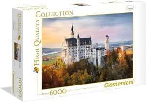 Puzzles de Castillo Neuschwanstein - Puzzle del Castillo Neuschwanstein de 6000 piezas de Clementoni