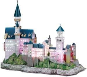 Puzzles de Castillo Neuschwanstein - Puzzle del Castillo Neuschwanstein en 3D de 121 piezas de Cubic Fun con luces