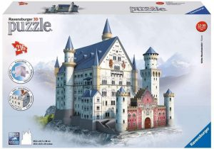 Puzzles de Castillo Neuschwanstein - Puzzle del Castillo Neuschwanstein en 3D de 216 piezas de Ravensburger