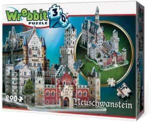 Puzzles de Castillo Neuschwanstein - Puzzle del Castillo Neuschwanstein en 3D de 890 piezas de Wrebbit