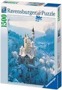 Puzzles de Castillo Neuschwanstein - Puzzle del Castillo Neuschwanstein en invierno de 1500 piezas de Ravensburger