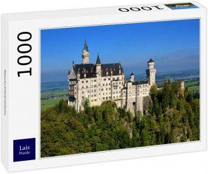 Puzzles de Castillo Neuschwanstein - Puzzle panorama del Castillo Neuschwanstein de 1000 piezas de Lais de día