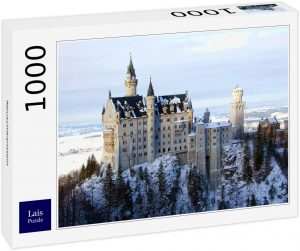 Puzzles de Castillo Neuschwanstein - Puzzle panorama del Castillo Neuschwanstein de 1000 piezas de Lais nevado
