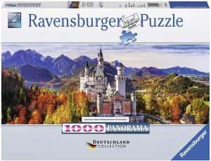 Puzzles de Castillo Neuschwanstein - Puzzle panorama del Castillo Neuschwanstein de 1000 piezas de Ravensburger