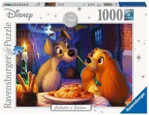 Puzzles de Disney de Ravensburger de 1000 piezas - Puzzle de La Dama y el Vagabundo