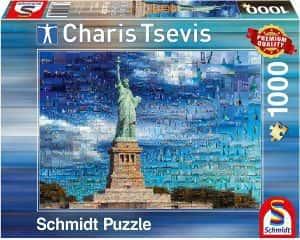Puzzles de Nueva York - New York - Puzzle de 1000 piezas de la estatua de la libertad collage