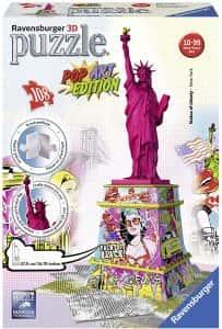 Puzzles de Nueva York - New York - Puzzle de la estatua de la libertad pop art en 3D