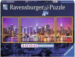 Puzzles de Nueva York - Puzzle de Tríptico de Nueva York de 1000 piezas