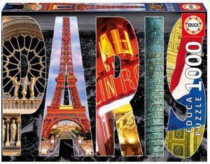 Puzzles de París - Puzzle de París de 1000 piezas con el nombre