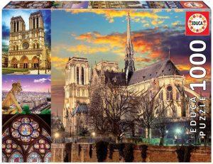 Puzzles de París - Puzzle de París de 1000 piezas de Notre Dame collage