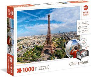 Puzzles de París - Puzzle de París de 1000 piezas de la Torre Eiffel desde el aire