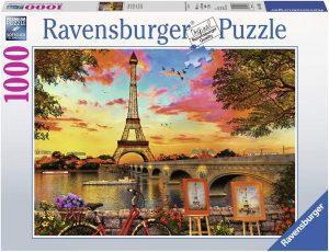 Puzzles de París - Puzzle de París de 1000 piezas de la Torre Eiffel pintando