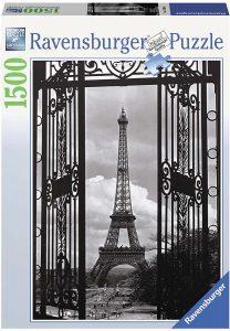 Puzzles de París - Puzzle de París de 1500 piezas de ventana a la torre eiffel