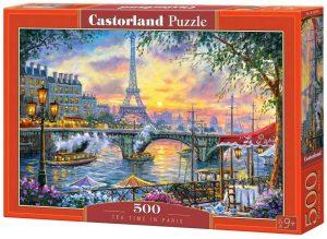 Puzzles de París - Puzzle de París de 500 piezas de la Torre Eiffel Hora del té