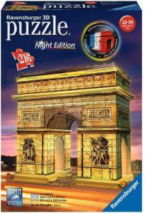 Puzzles de París en 3D - Arco del triunfo en 3D de noche