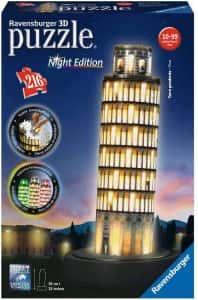 Puzzles de Pisa - Puzzle de la torre de Pisa en 3D de noche
