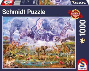Puzzles de animales - Puzzle de animales de África de 1000 piezas