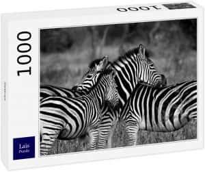 Puzzles de cebras - Puzzle de 1000 piezas de grupo de cebras