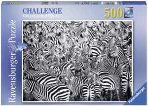 Puzzles de cebras - Puzzle de multitud de cebras de 500 piezas