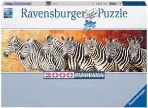Puzzles de cebras - Puzzle de panorama de cebras de 2000 piezas