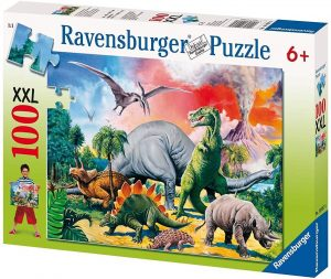 Puzzles de dinosaurios - Puzzle de 100 piezas de Ravensburger de extinción de los dinosaurios