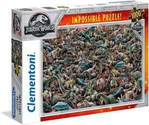 Puzzles de dinosaurios - Puzzle de 1000 piezas de Clementoni de Jurassic World de dinosaurios