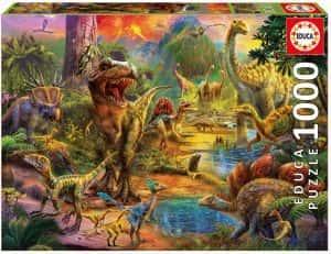 Puzzles de dinosaurios - Puzzle de 1000 piezas de Educa de dinosaurios