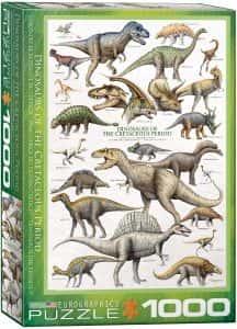 Puzzles de dinosaurios - Puzzle de 1000 piezas de Eurographics de dinosaurios