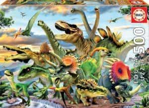 Puzzles de dinosaurios - Puzzle de 500 piezas de dinosaurios de Educa