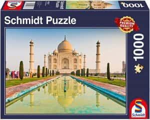 Puzzles del Taj Mahal en la India - Puzzle de 1000 piezas del Taj Mahal de Schmidt