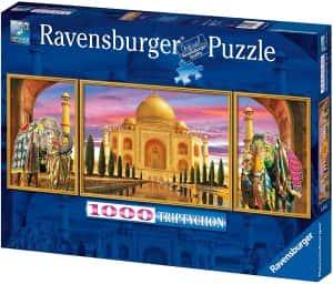 Puzzles del Taj Mahal en la India - Puzzle de 1000 piezas panorama del Taj Mahal de Ravensburger