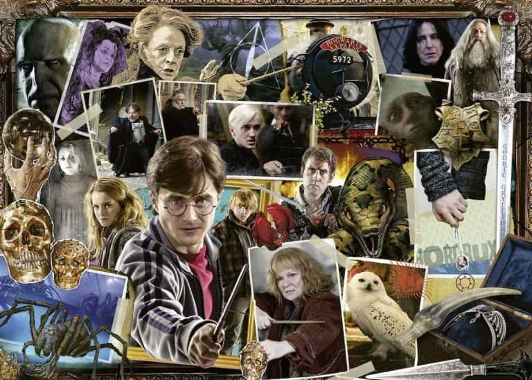 Puzzle de Harry Potter - Colección de puzzles de Harry Potter hecho de recortes