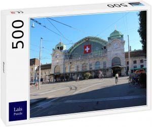 Los mejores puzzles de Basilea - Puzzle de Estación de Tren de Basilea de 500 piezas de Lais