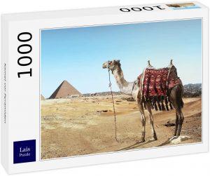 Los mejores puzzles de Egipto - Puzzle de 1000 piezas de Camello mirando las pirámides