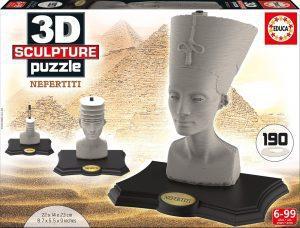 Los mejores puzzles de Egipto - Puzzle de Nefertiti en 3D de 190 piezas